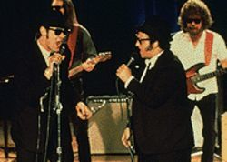 Elwood and Jake take a bow in honor of the Blues  Brothers anniversary.