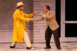 Drew Cortese (left) and Matt Zambrano in The Taming of the Shrew.