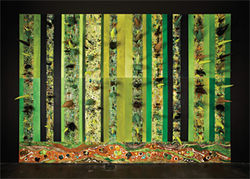 Wall of thorns, from the Garden of Nineveh installation, by Terry Maker.