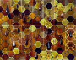 The honeycomb wall, from Terry Maker's Garden of Nineveh.