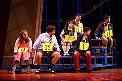 Hopeful contestants in the Putnam County Spelling Bee.