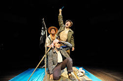 Blake Lowell, Nick Abeel and Stanton Nash in The Adventures of Tom Sawyer.
