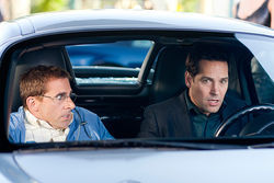 Steve Carell (left) and Paul Rudd star in Dinner for Schmucks.