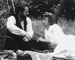 Sing-song: Aidan Quinn and Janet McTeer make music together in Songcatcher.