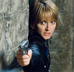 Jodie Foster as Erica Bain, taking revenge to the next level in The Brave One.