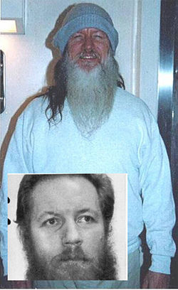 Lockdown world: Thomas Silverstein in 2005, a few months after his arrival at ADX, in Atlanta in the 1980s (inset) around the time he began his tour in solitary.