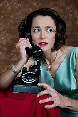 Stacy Riley plays Margot in Dial 'M' for Murder.