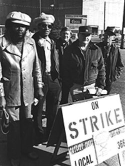 State of the union: In the late 70s, labor frequently protested Coors's policies.