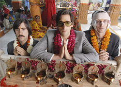 Jason Schwartzman, Adrien Brody and Owen Wilson travel on The Darjeeling Limited.
