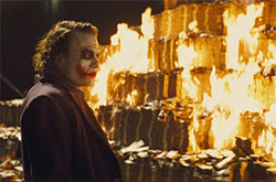 Heath Ledger&#039;s final act as the Joker in The Dark Knight is superb.