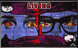 """Living,"" by Gilbert and George, C-print photo enlargement."
