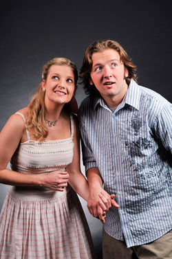 Emily Van Fleet and Nick Henderson in The Fantasticks.