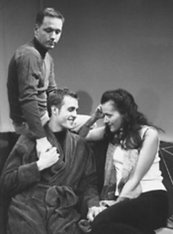 Richard Cook, Marc Burg and Trina O'Neil in A Question of Mercy.