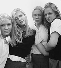 The girls next door (from left): Chelse Swain, Kirsten Dunst, Leslie Hayman and A.J. Cook are four of the five Lisbon sisters in The Virgin Suicides.