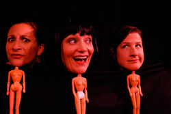 Lisa Rosenhagen, Megan Van De Hey and Emily Paton Davies in The Good Body.