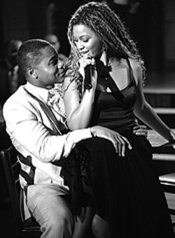 Holy smoke: Cuba Gooding Jr. and Beyoncé Knowles  feel the spirit in The Fighting Temptations.