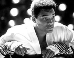 Will to win: Will Smith steps into the ring as a god in Ali.