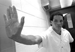 Talk to the hand: La Quica was a fugitive from Colombian justice when DEA agents arrested him in New York in 1991.