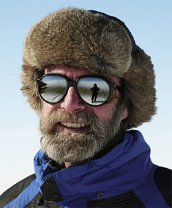 Konrad Steffen studies climate change from the Greenland ice sheet.