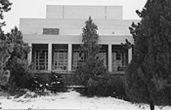 The west elevation of the Colorado Springs Fine Arts Center.