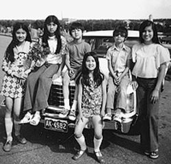 Coming to America: The Nguyen family soon after  they escaped Vietnam.