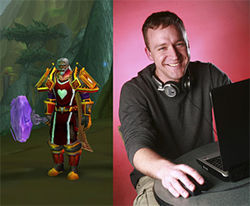Ben Schulz lost the beard but kept Leeroy Jenkins (left), his alter ego.