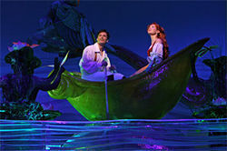 Sean Palmer and Sierra Boggess get along swimmingly in The Little Mermaid.