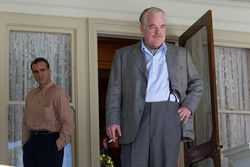 Joaquin Phoenix and Philip Seymour Hoffman star in The Master.
