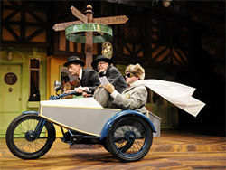 Randy Moore, Philip Pleasants and Jeffrey Evan Thomas take off in The Merry Wives of Windsor.