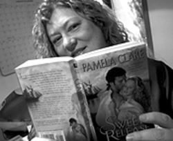 Turn the page: Pam White, aka Pamela Clare.