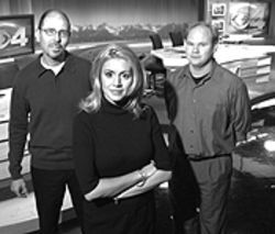 The 4 corps: Jim Hayek, Krista Brunson and Ed  Cushing have designs on TV news.