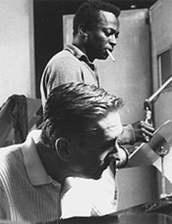 A young Miles Davis, with Gil Evans, in the late '50s.