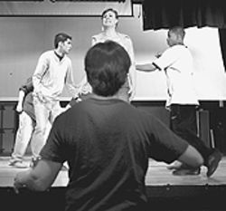 Zoot Suit Riots cast members rehearse.