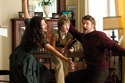 Jennifer Garner, CJ Adams (center) and Joel Edgerton star in The Odd Life of Timothy Green.