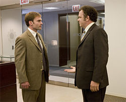 Seann William Scott and John C. Reilly face off in The Promotion.