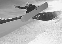 Dena Melinn pulls a front-side air in a half-pipe.