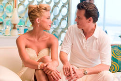 Amber Heard and Johnny Depp star in The Rum Diary.