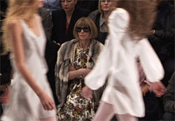 Vogue editor Anna Wintour in The September Issue.