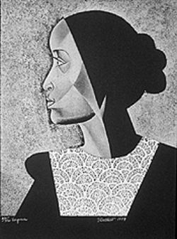"""Virginia,"" by Elizabeth Catlett."