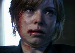 Anessa Ramsey fights zombies in The Signal.