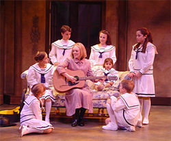 Christiana Sullins plucks at the heartstrings of the Von Trapp children in The Sound of Music.