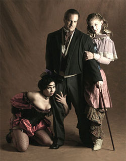 Pay up: Gina Razon, Travis Risner and Katherine Yeager in The Threepenny Opera.