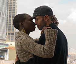 Danai Gurira and Haaz Sleiman love and struggle in The Visitor.