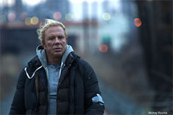 Mickey Rourke is down on his luck in The Wrestler.