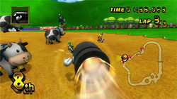 With Mario Kart Wii, you can race till the cows come home.