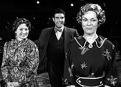 To die for: Anne Oberbroeckling, Eric C. Dente and Elizabeth T. Murff in Arsenic and Old Lace.