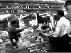 The surveillance video that police recovered from the Texaco station.