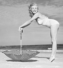 A young Marilyn Monroe glows in Andre de Dienes  Retrospective: 1934-1974, opening Friday at Camera  Obscura Gallery.