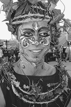 Dance with  the Green Man  at Vinotok, this weekend  in  Crested Butte.