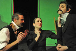 Jeremy Make, Sonia Ellis and Michael Bouchard in The Three Faces of Doctor Crippen.